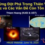 Webinar 01: Những đột phá trong thiên văn học
